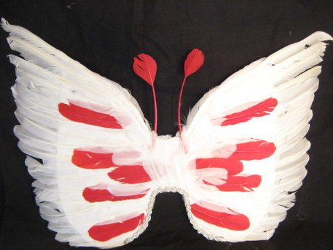 Крылья перьевые белые  перьевые оригинальные