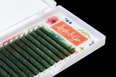 Купить Зеленые ресницы для наращивания Lash Go 16 линий (микс длин) в официальном магазине Lash-Go.ru