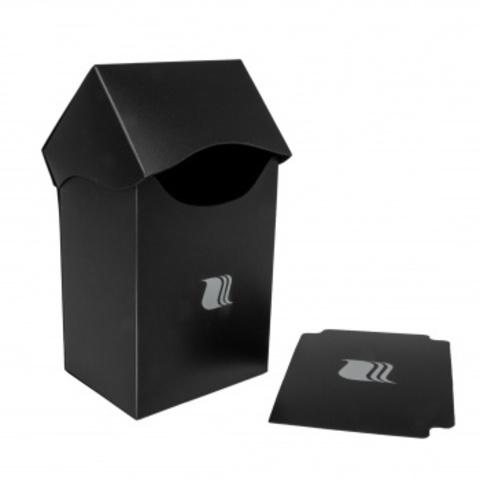 Пластиковая коробочка Blackfire вертикальная - чёрная (80+ карт)