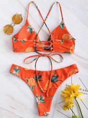 купальник раздельный оранжевый с апельсинами Happy Orange 2