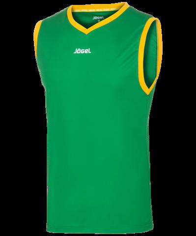 Майка баскетбольная JBT-1020-034, зеленый/желтый, детская