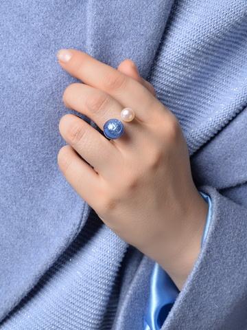 Кольцо Carlotta голубое