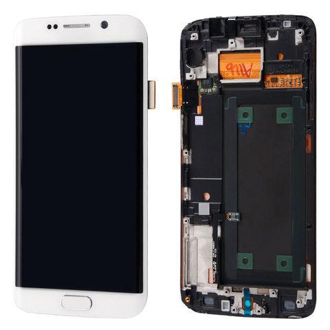 LCD SAMSUNG Galaxy S6 Edge G925F + Touch + Frame White Orig