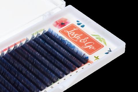 Купить Синие ресницы для наращивания Lash Go 16 линий (микс длин) в официальном магазине Lash-Go.ru