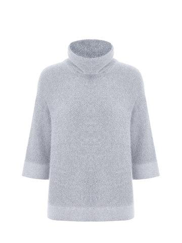 Женский свитер светло-серого цвета из ангоры - фото 1