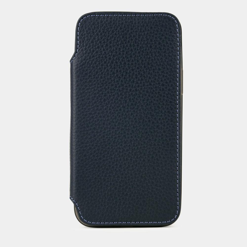 Чехол Benoit для iPhone 12/12Pro из натуральной кожи теленка, цвета синий мат