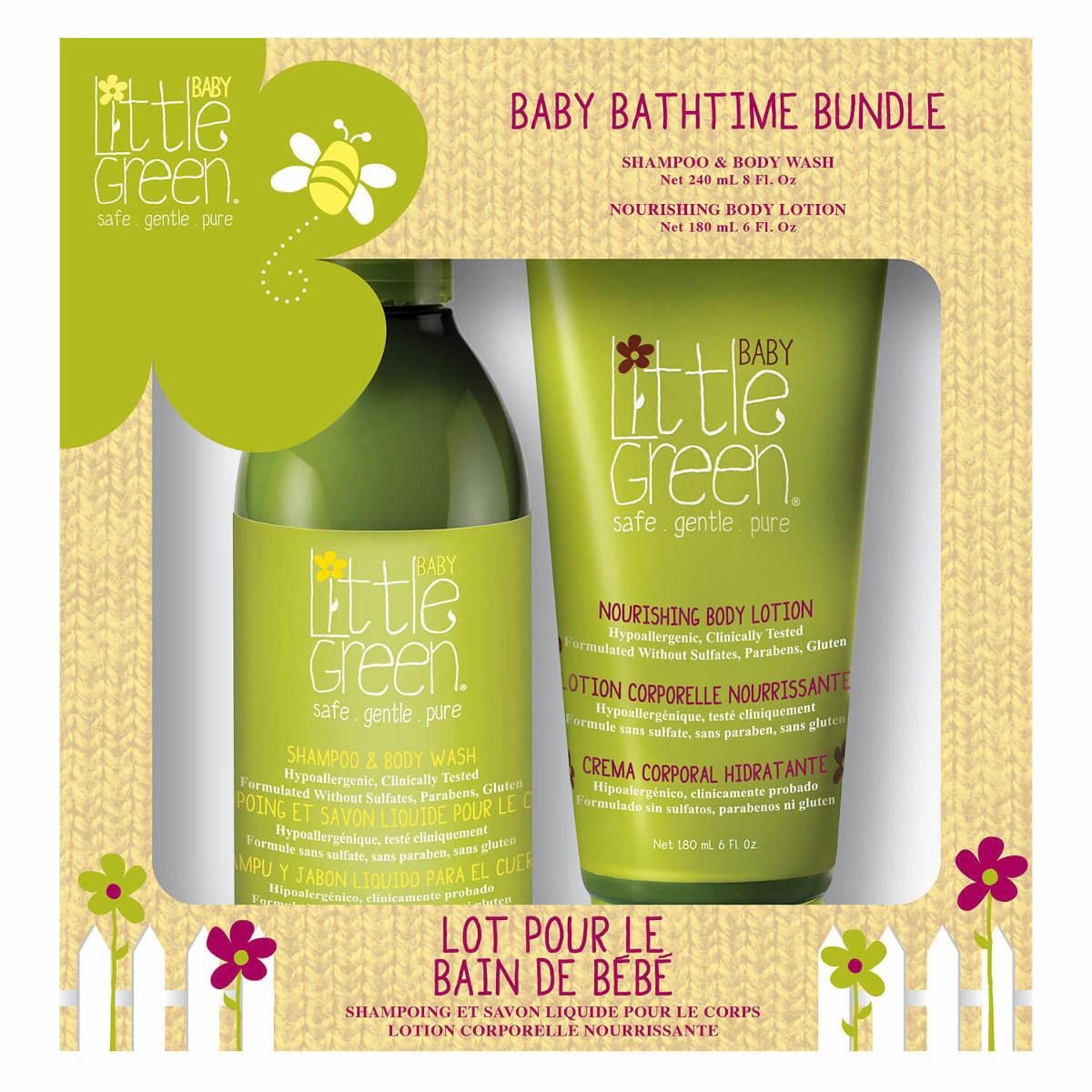 Набор Little Green для купания малыша Baby bath time bundle