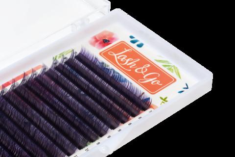 Купить Фиолетовые ресницы для наращивания Lash Go 16 линий (микс длин) в официальном магазине Lash-Go.ru