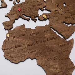 Карта Мира из дерева Brown фото 5