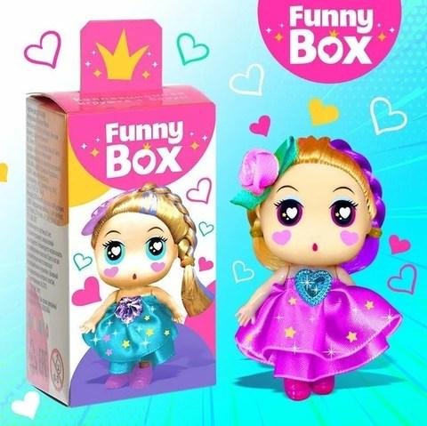 068-1301 Набор для детей Funny Box «Куколки-милашки» Набор: куколка, инструкция, наклейки, МИКС