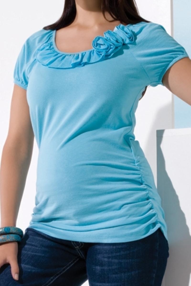 Блузка для беременных 01456 бирюзовый