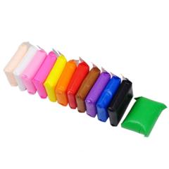 Легкий воздушный пластилин 12 цветов - подходит для слаймов