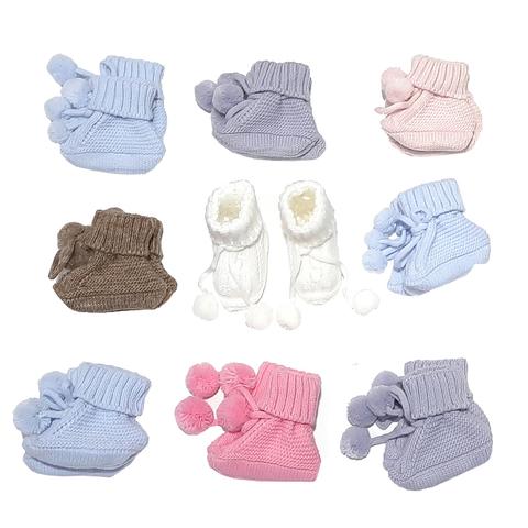 Пинетки вязаные малышам (0+) 201217-р-001