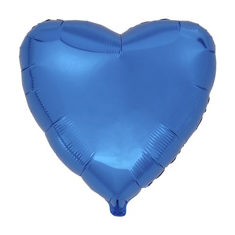 Воздушный шар Сердце 44см (Синее)