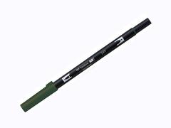 Маркер-кисть Tombow ABT Dual Brush Pen-249, темно-зеленый с желтоватым отливом