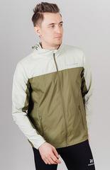 Ветро- и водозащитная куртка с капюшоном Nordski Rain Green/Olive мужская