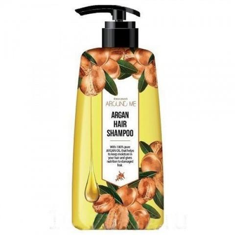 WELCOS Argan Шампунь для поврежденных волос Around me Argan Hair Shampoo 500мл