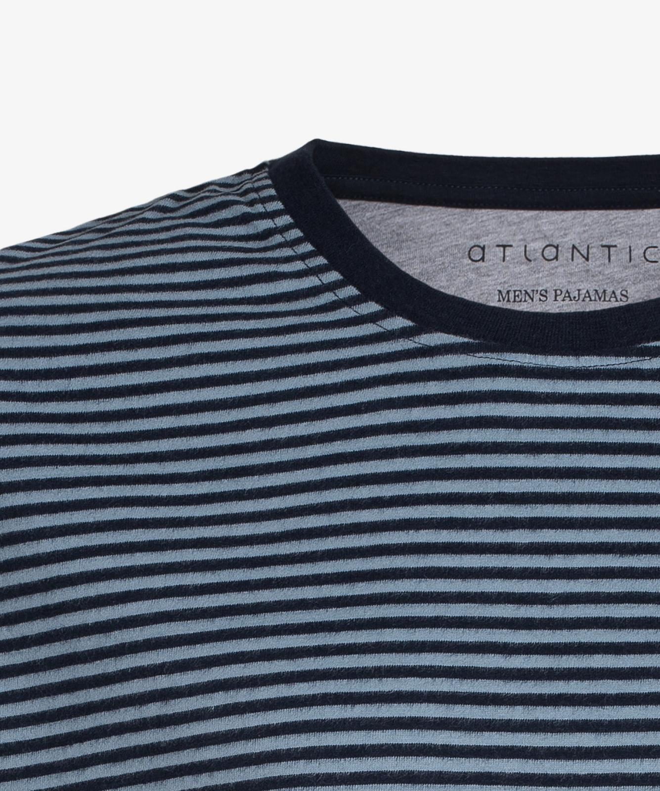 Мужская пижама Atlantic, 1 шт. в уп., хлопок, серая, NMP-342