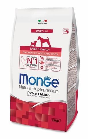 купить Monge Dog Mini Starter for mother and baby корм для щенков средних пород 1,5 кг