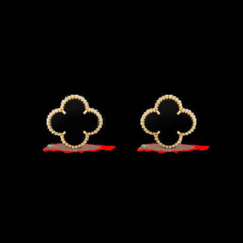 Серьги-пусеты Trendy mini из серебра с лимонной позолотой, вставка агат