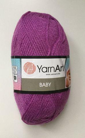 Пряжа YARNART BABY № 560 темно сиреневый