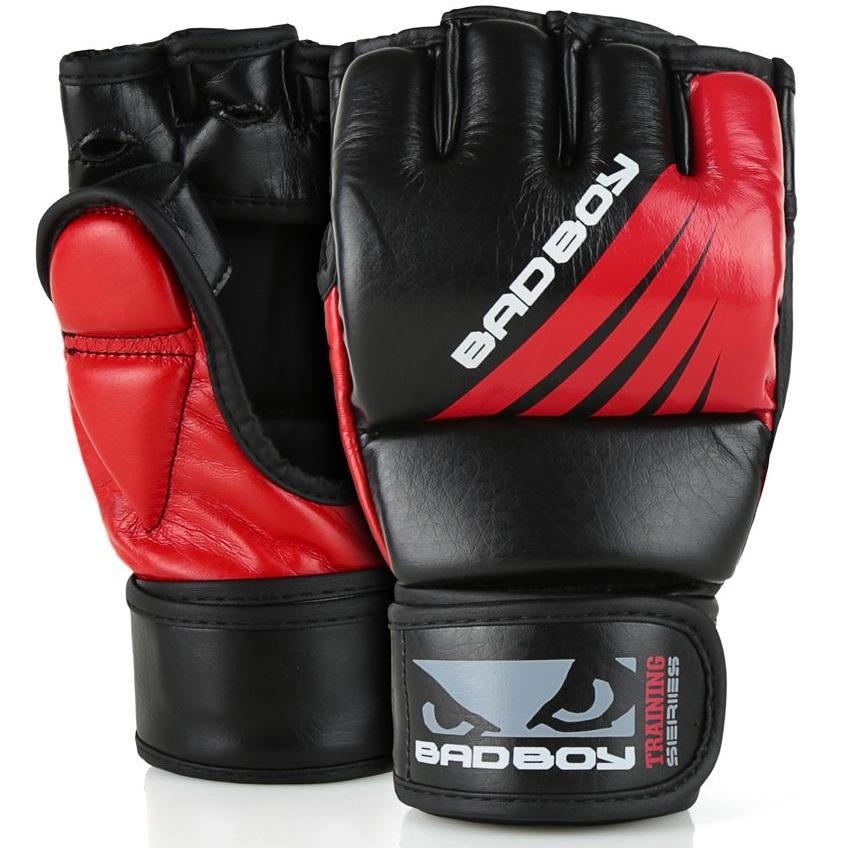 ММА перчатки Перчатки для ММА Bad Boy Training Series Impact With Thumb Black/Red 1.jpg