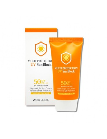 Солнцезащитный крем Multi protection UV Sun Block SPF 50+ PA +++, 3W Clinic