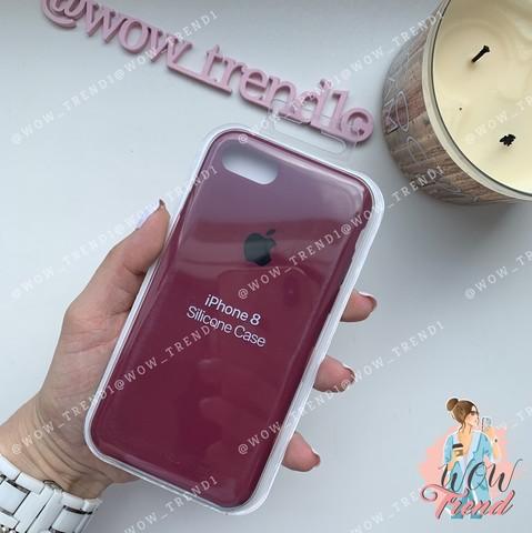 Чехол iPhone SE Silicone Case /marsala/