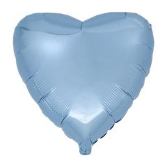 Воздушный шар Сердце 44см (Голубое) Пастель