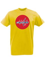 Футболка с принтом НХЛ Вашингтон Кэпиталз (NHL Washington Capitals) желтая 001