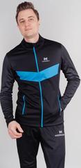 Теплая лыжная куртка Nordski BASE 2021 Black/Blue мужская