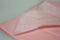 Бумага тишью светло-розовая 76 х 50 см, 10 листов 28 г/м