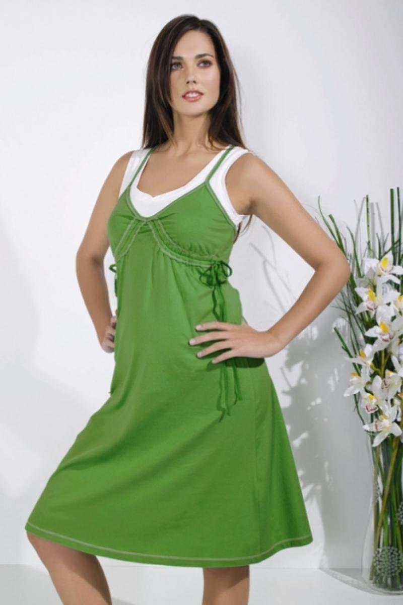 Платье для беременных 05604 зеленый