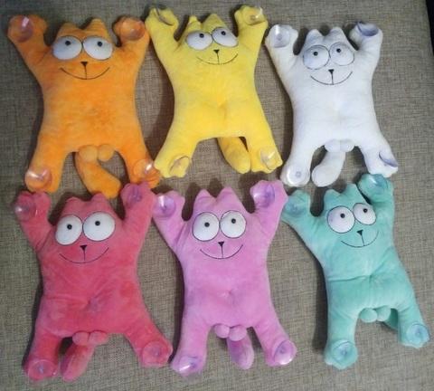 Набор Кот Саймона игрушки мягкие разных цветов 6 шт 25 см