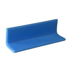 Профиль защитный Г-образный тип 75х75-10 2000 мм синий (10 штук в упаковке)