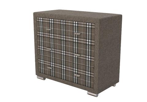 Комод Orma Soft 2 (4 ящика) Ткань Глазго (коричневый с коричневым в клетку)