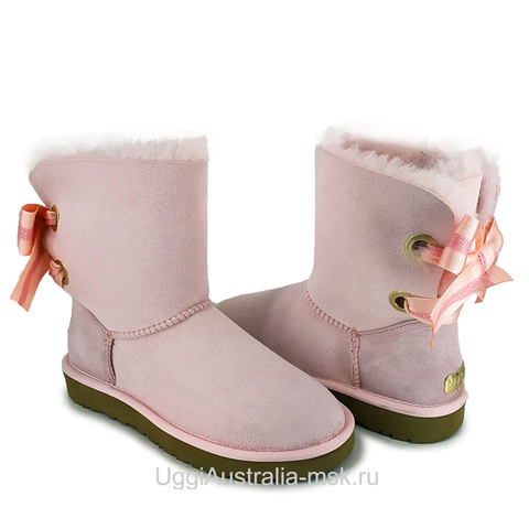 UGG Bailey Bow Customizable Pink