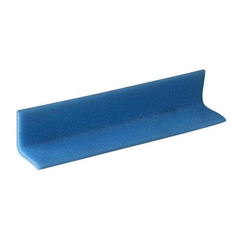 Профиль защитный Г-образный синий тип 50х50-6 длина 2 м (10 штук в упаковке)