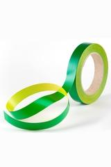 Лента простая гладкая без тиснения (2см*50м)  Желтый/Зеленый
