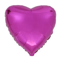 Воздушный шар Сердце 44см (Фуксия)