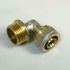 обжимной фитинг для металлопластиковых труб угол