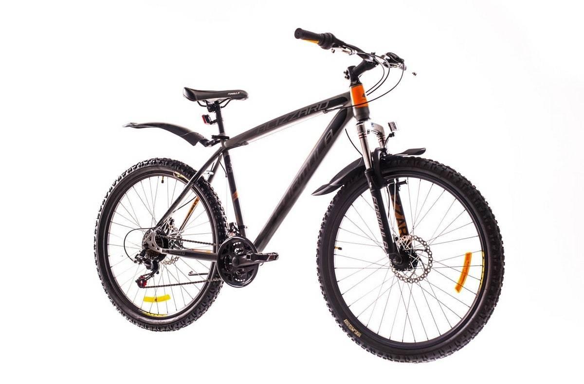 Горный мужской велосипедFormula Blizzard DD (Формула Близард) черно-оранжевый