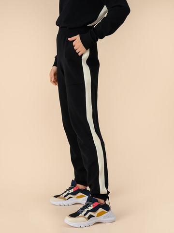 Женские брюки черного цвета из 100% шерсти - фото 4