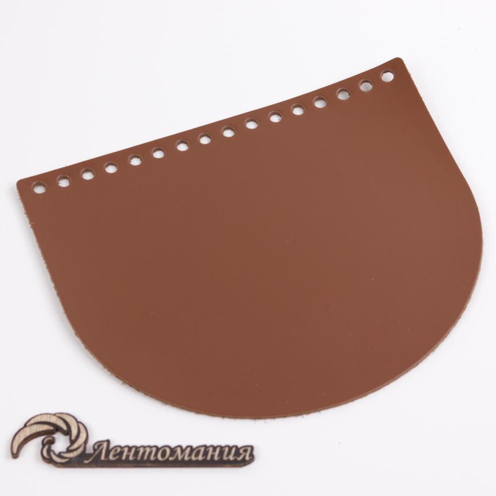 """Вся фурнитура Клапан для сумочки кожаный """"Молочный шоколад"""" 19*16 см 20210328-IMG_0203.jpg"""