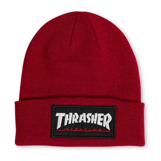 Шапка THRASHER Logo Patch Beanie (Maroon)