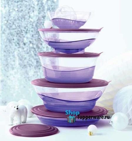 Набор чаш Элегантность Tupperware в сиреневом цвете