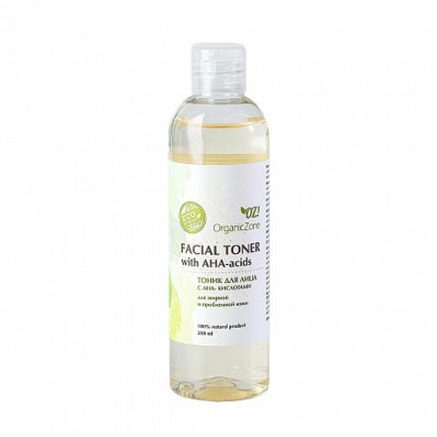 Тоник для лица с AHA-кислотами, для жирной и проблемной кожи OZ!