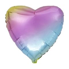 Воздушный шар Сердце 44см (Градиентное)