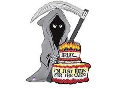 Фольгированный шар JUST FOR CAKE Смерть с косой