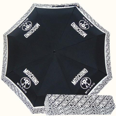 чёрный зонтик с брелком moschino